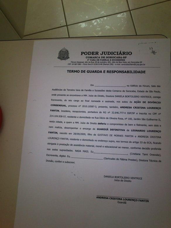 Juiza decreta Guarda unilateral 6 meses antes da sentença e sem assinar