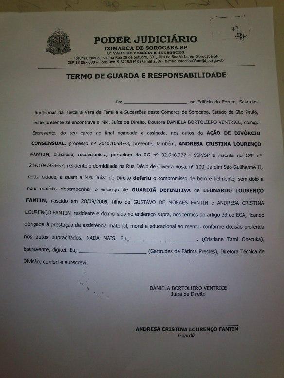 Juiza decreta Guarda unilateral 6 meses antes da sentença