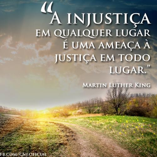 Injustiça - Precisamos combater!