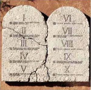 os 10 mandamentos de Deus na Biblia